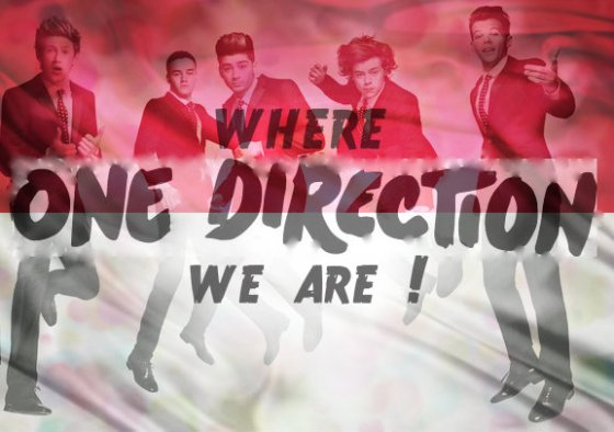 One Direction Indonesia'S Flage